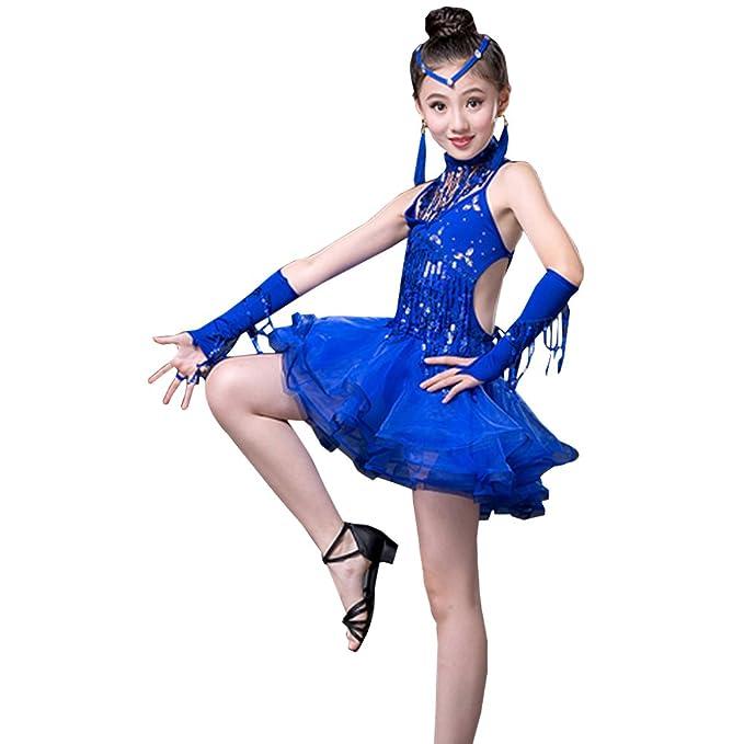 KINDOYO Trajes de Baile Latino niñas Competencia Trajes de ...