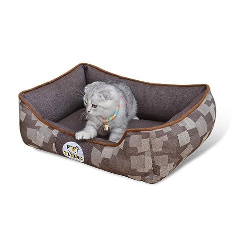 PETCUTE Cama para Perros Camas Perros medianos Cachorros Cama para Gatos Cama Acolchada para Mascotas Completamente Desmontable lavabl