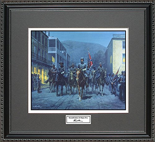 Mort Kunstler STONEWALL JACKSON AT HARPERS FERRY Framed Wall Art Civil War Print, 18x16