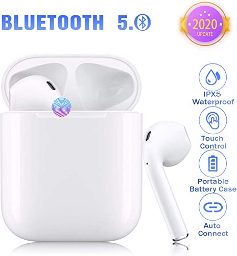 Bluetooth 5.0 Wireless Bluetooth Headset Wireless Headphones in-Ear Headphones IP5 Waterproof Earplugs Noise Cancelling Headphones for Airpods iOS Android Sports Portable Wireless Headphones