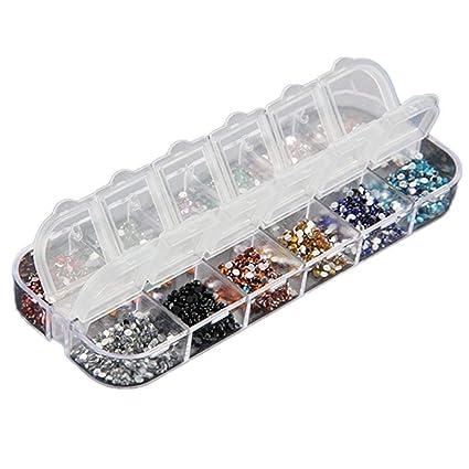 BIGBOBA Lote de 3000 aplicaciones de estrás para decoración de uñas postizas, naturales o de