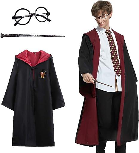 Amycute - Disfraz de Harry Potter, Albornoz Deluxe + Gafas de Mago ...