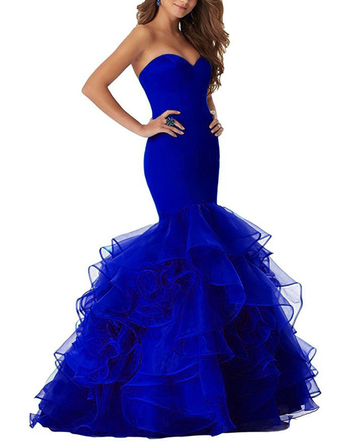 Udresses Long Mermaid Women Evening Party Dress Prom Gown UX010 Royal Blue 8