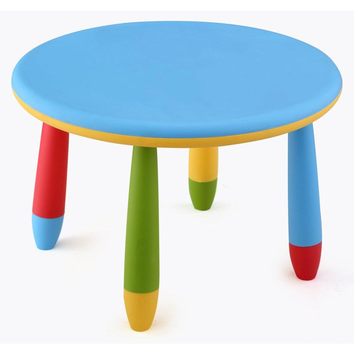 mesa infantil redonda de plstico desmontable para nios