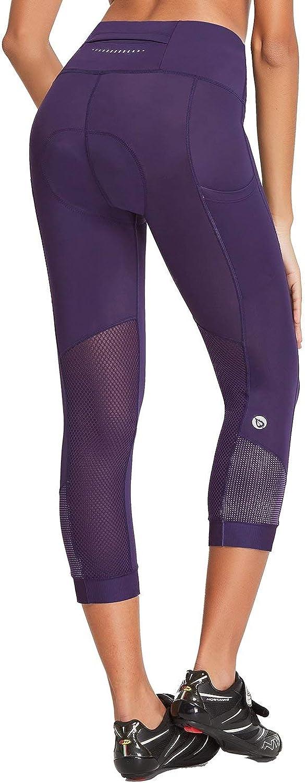 BALEAF Womens High Waist Padded Cycling 3//4 Pants Breathable Bike Capri Pockets UPF 50+