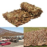 MIYA LTD 3Mx3M Desert Camouflage Netting Army Shooting Camouflage for Camping Military Hunting Hide Fishing Shelter Car Covers