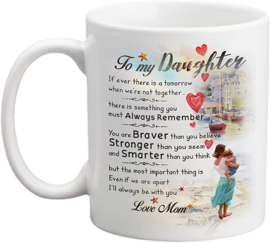 Amazon Com Gift For Daughter Mother Daughter Gift 11oz Cup Great Mothers Day Gifts Gift Ideas For Daughter Wedding Gift Birthday Gift Daughter Gift Father S Day Mother S Day Kitchen Dining