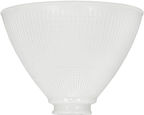 Upgradelights 8 Inch Glass Floor Lamp Reflector Shade Glass Lamp Gla