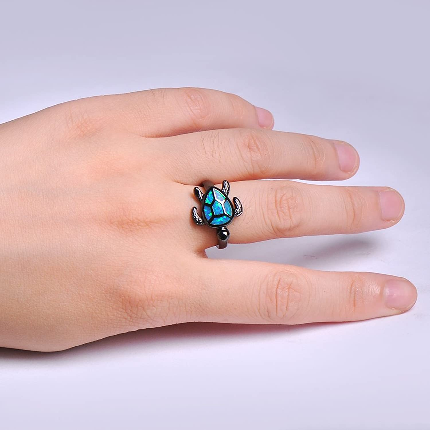 Amazon.com: Bamos Fashion Jewelry Girls Turtle Best Friend Rings for ...