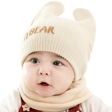 453f83be126f CATSAP Baby Girls Boys Warm Soft Knit Bear Hat Toddler Winter ...
