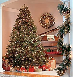 the christmas workshop 200 led pre lit frosted berry christmas tree warm white - 12 Ft Christmas Tree