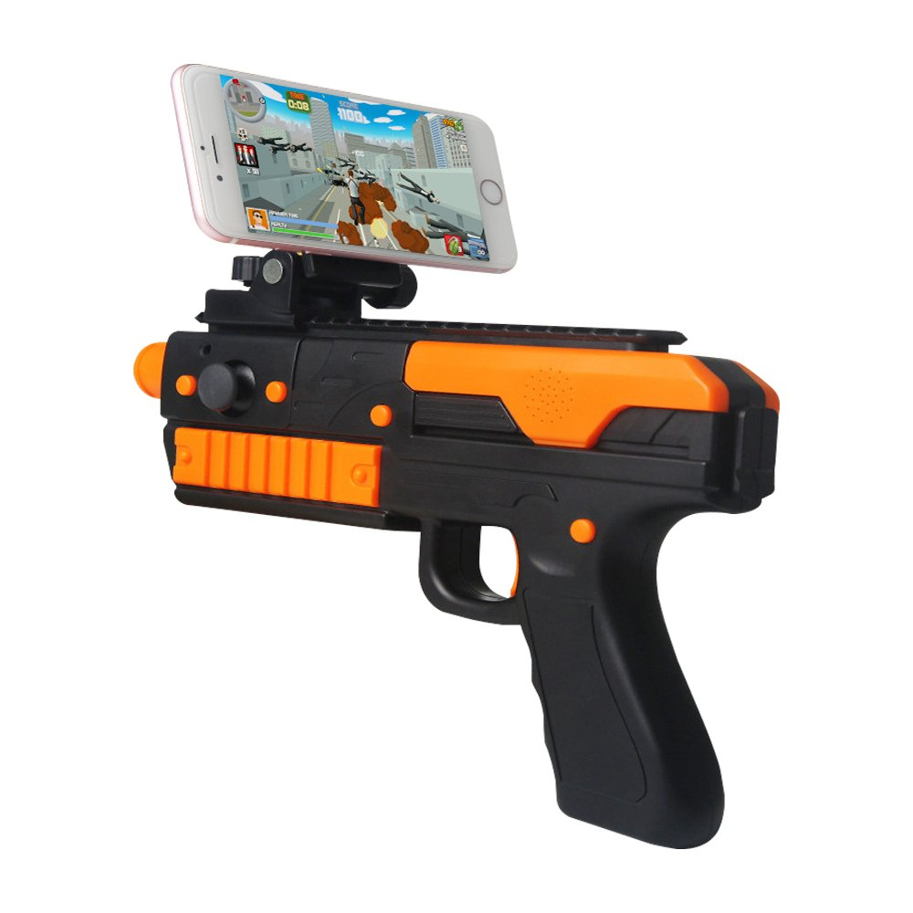 ElementDigital AR Gun Game Controller Augmented Reality Toy Gun Wireless Bluetooth Shooting Toys with Phone Holder for Android and iPhone
