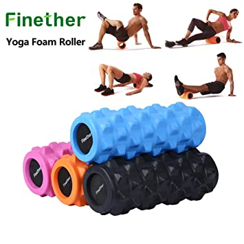 Finether Yoga Foam Roller EVA Ejercicio gatillo Punto Gym ...