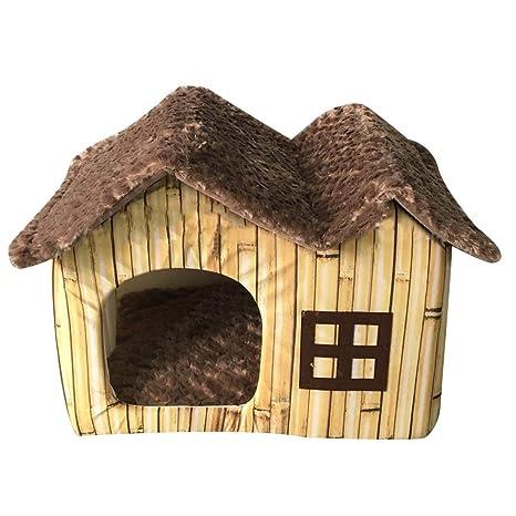 Freahap Casa de Mascotas Cama para Gatos Perros con cojín extraíble # 3