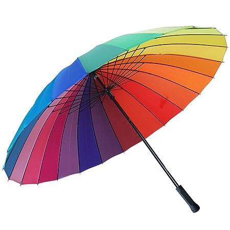 Long Handle Business Increase 24 Paraguas Óseo Fortalecer Diseño A Prueba De Viento Paraguas Familiar Mango Antideslizante Secado Rápido Siete Colores Para ...