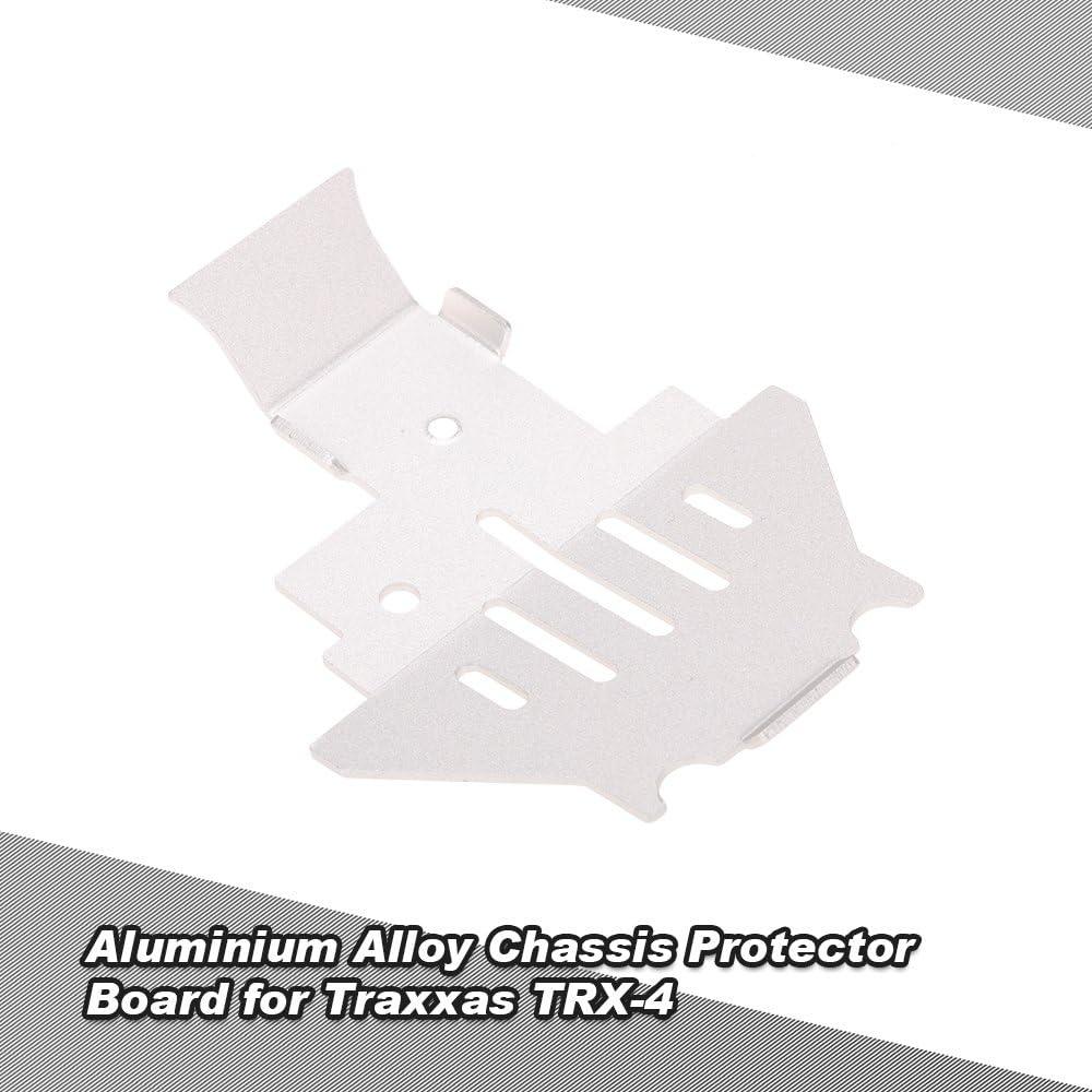 Goolsky Protector bajo del protector de aluminio del chasis del metal para la correa eslabonada de TRAXXAS TRX4 RC
