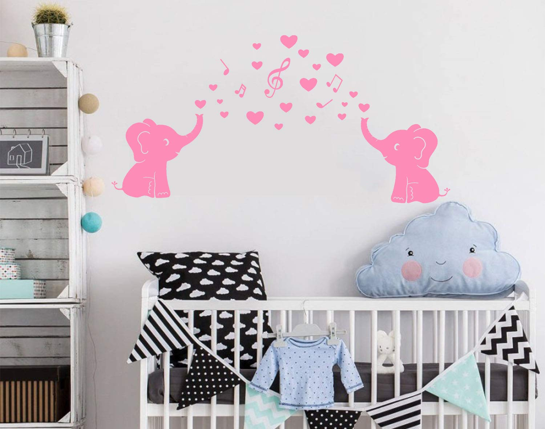 Gris Sayala Beb/é Elefante Pared Pegatinas y murales,Vinilo Adhesivo Infantil Pegatina Pared para Dormitorio Sala Elefante,Pared dodoskinz la habitaci/ón del beb/é