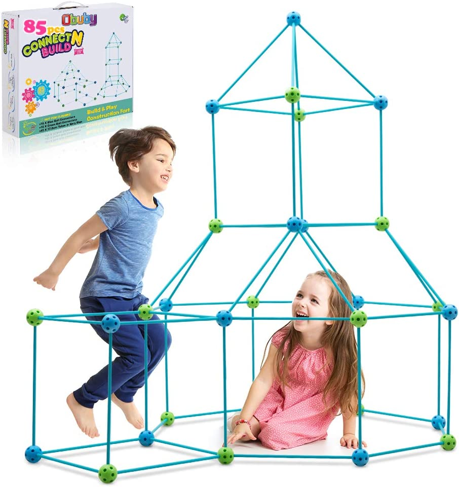 Obuby Kids Construction Fort Building Kit Ultimate Forts Builder Gift Build Making Kits Toys for Boys and Girls to DIY Building Castles Tunnels Play Tent Rocket Tower Indoor & Outdoor