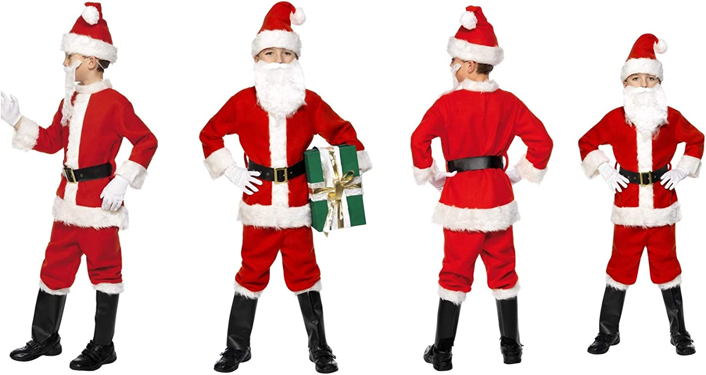 Fancy Dress World - Disfraz de Papá Noel para niños, Chaqueta roja ...