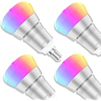 Bombilla WiFi, Maxcio Bombilla Inteligente WiFi de Multicolor