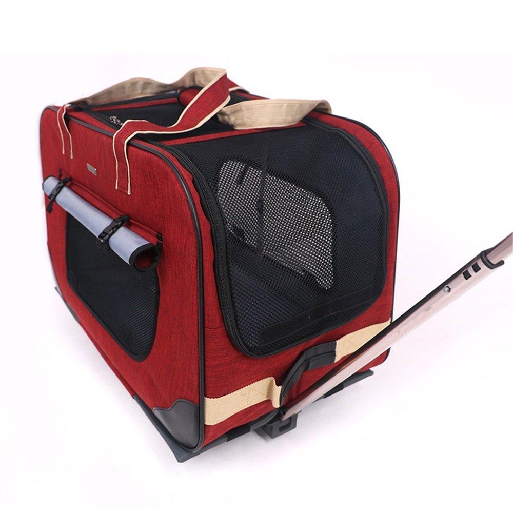 Zhou Yunshan Pet Trolley Dog Going out out out Borsa da Viaggio per Gatti Plus Large VIP Pet Box da Viaggio colore Multi-Select. Portatile (colore   Rosso) d3140d