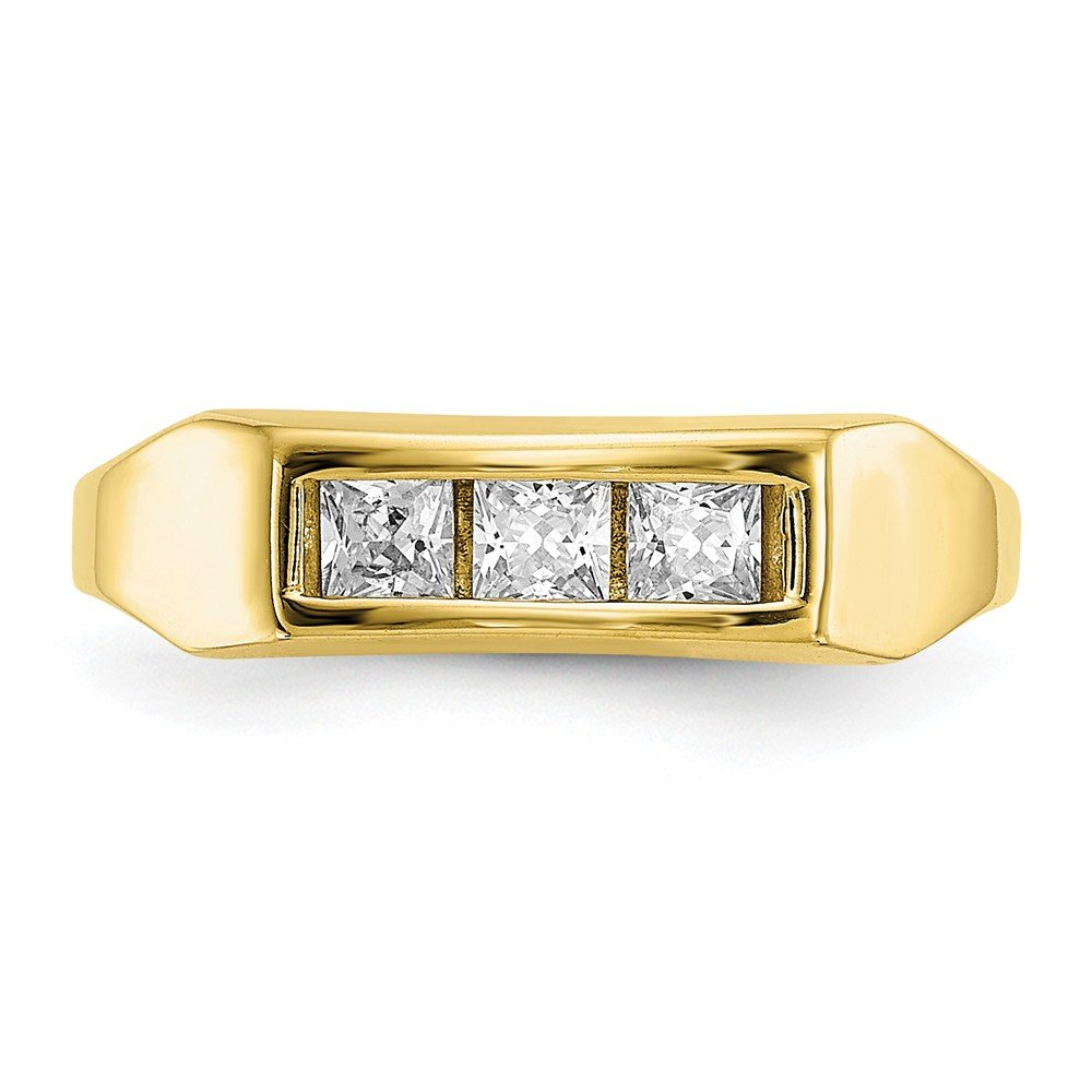 FB Jewels 10K Yellow Gold Cubic Zirconia CZ Polished Childs Ring