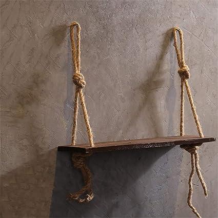 Amazon com: JIAOHJ Floating Shelf,Solid Wood Flower Stand