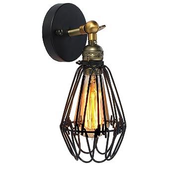 KINGSO E27 Lampe Suspension Abat-jour Cage en fer Plafonnier ...