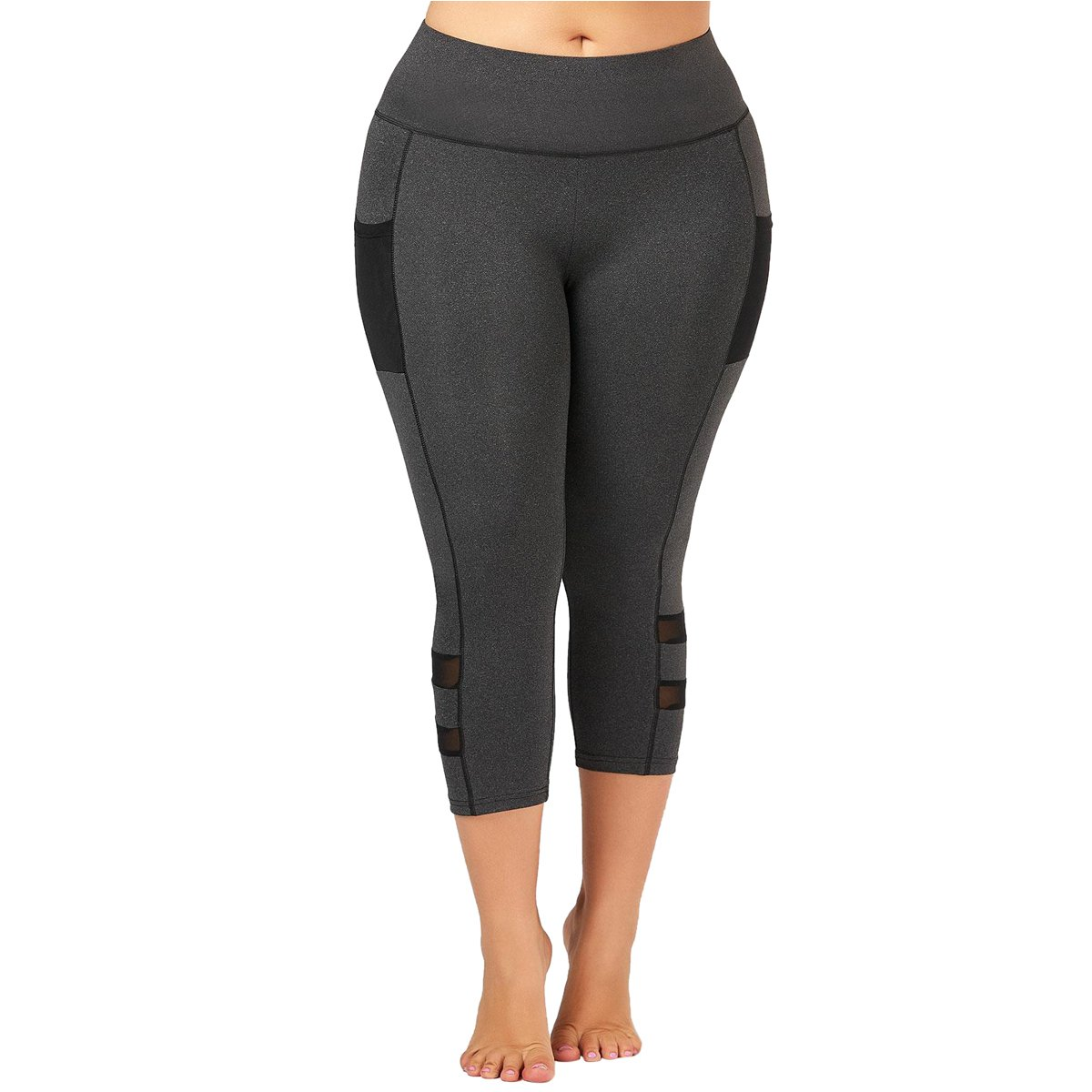 56324af2667 Yii ouneey Plus Size Leggings with Pocket for Women Yoga Pants High Waist  Fitness Workout Sports Tights Capris Leggings at Amazon Women s Clothing  store
