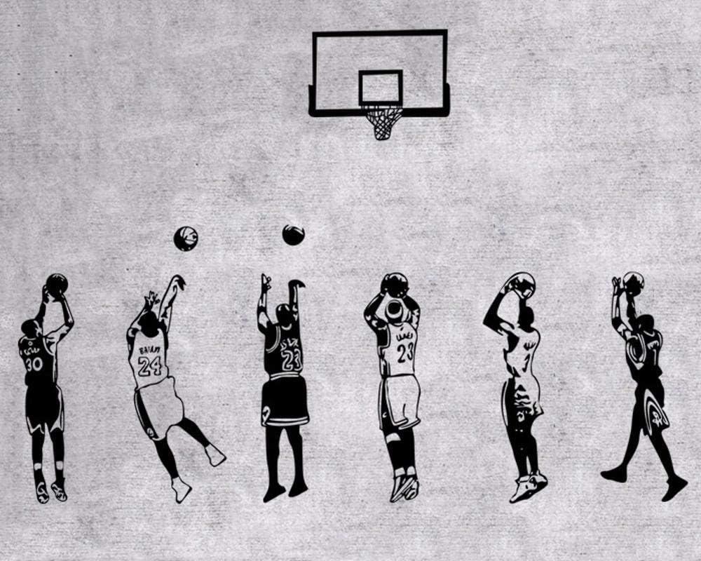 Pegatinas de Pared,Estrella de la NBA de Baloncesto Estrella James ...