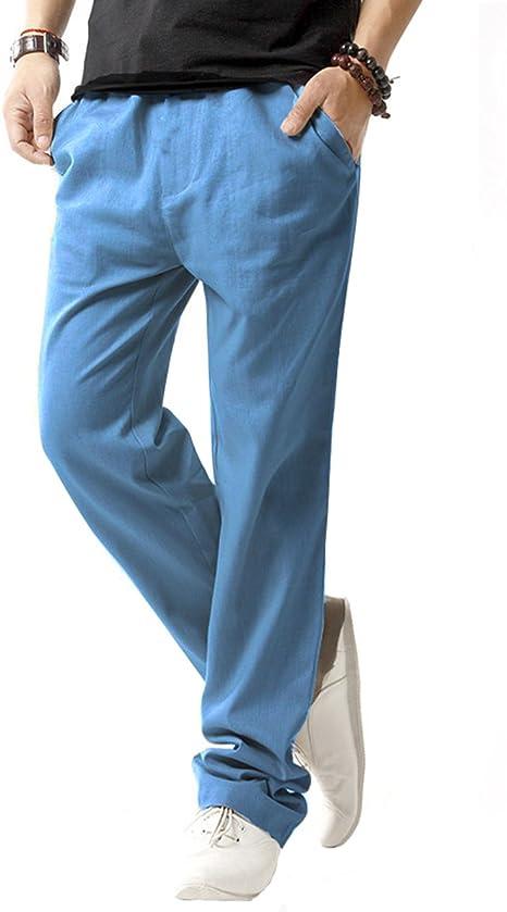 Sir7 Pantalones De Playa De Lino Para Hombre Livianos Con Cintura Elastica Para Verano Azul Denim X Large Amazon Com Mx Ropa Zapatos Y Accesorios