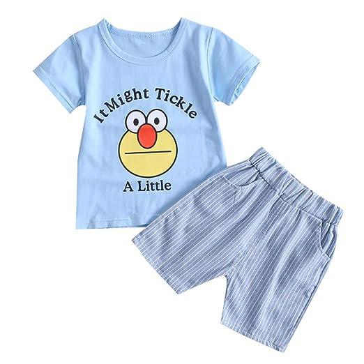 16fa1a45e Amazon.com  NUWFOR Kids Baby Girl Boy Cartton Letter Print Tops T ...