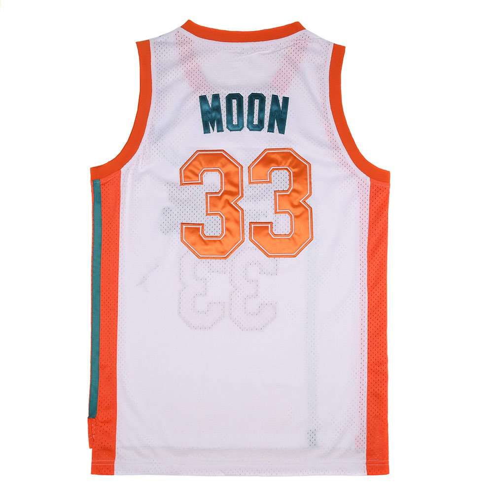 1b46e78de0da Amazon.com  TUEIKGU Mens 33 Flint Tropics Jersey Jackie Moon Basketball  Jersey S-XXL Green White  Clothing