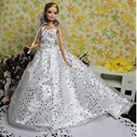 "Peregrine Romantic Sequins Wedding Gown, Bride Fashion Dress - Fits for 11.5"" Barbie Dolls & Other 30 cm Dolls"
