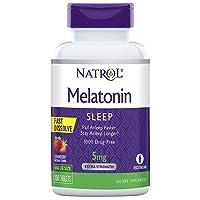 Natrol Melatonin Fast Dissolve Tablets, Helps You Fall Asleep Faster, Stay Asleep...