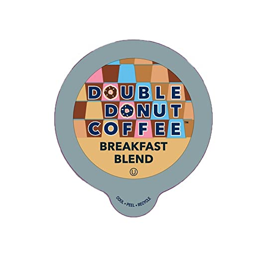 Double Donut Breakfast Blend Coffee, in Recyclable Single Serve Cups for Keurig K-Cup Brewers, 24 Count