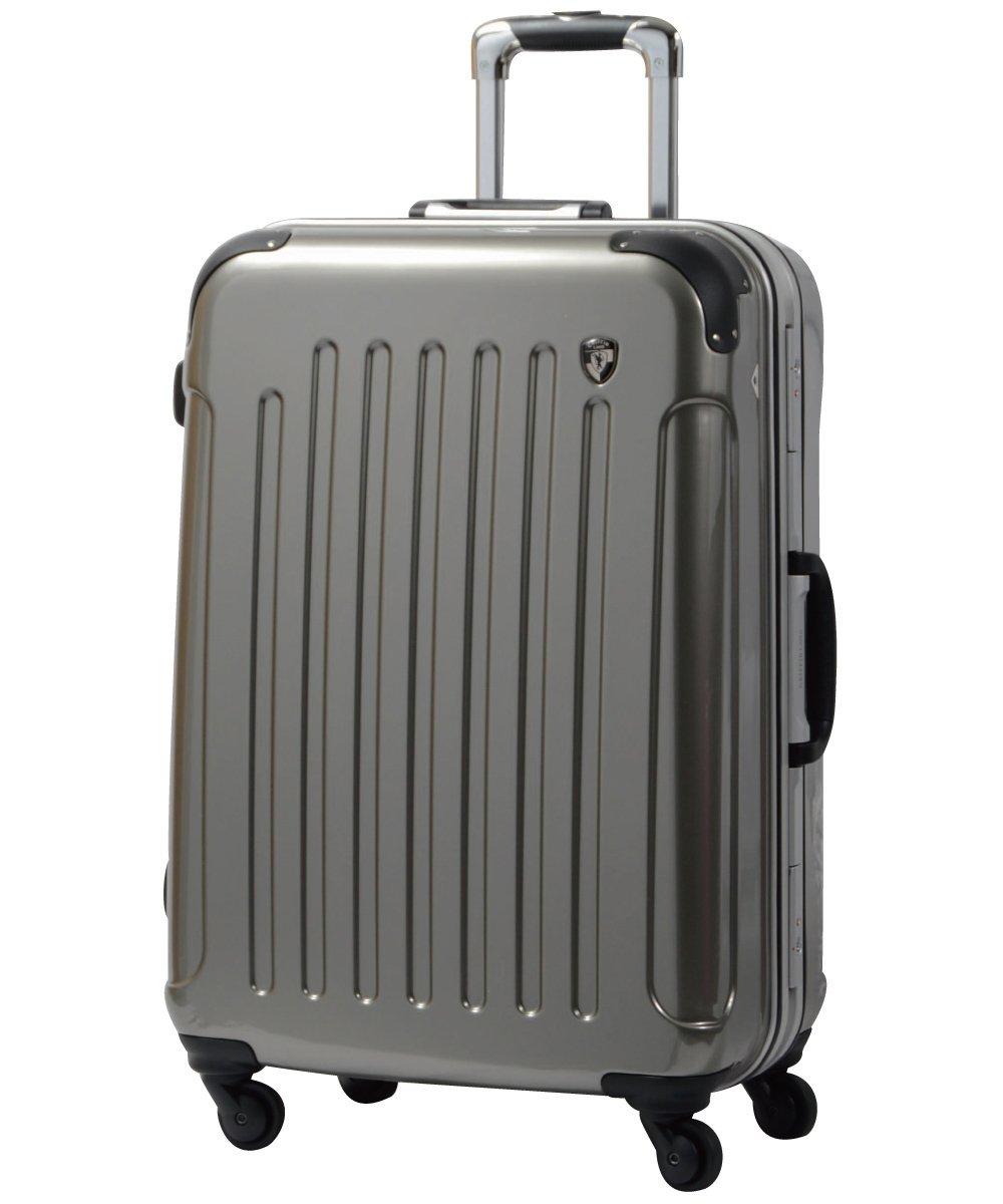 [グリフィンランド]_Griffinland TSAロック搭載 スーツケース 軽量 アルミフレーム ミラー加工 newPC7000 フレーム開閉式 B002972W8A S(小)型|シャンパンシルバー シャンパンシルバー S(小)型