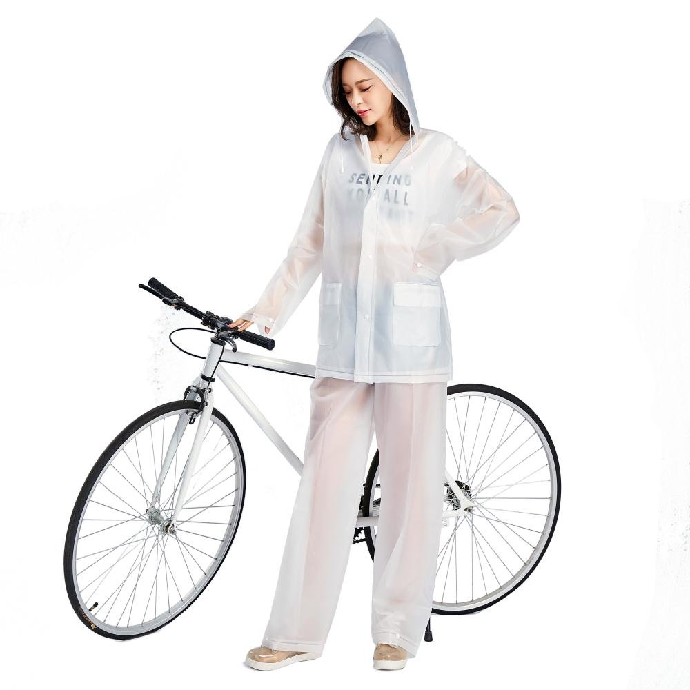 Langer Regenmantel Fahrrad Radfahren Reise Damen Wasserfest 5 Farben Riding