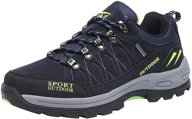 Zapatillas de Hombre, Zapatos Antideslizantes para Hombre Senderismo Botas Impermeables Zapatos de Escalada al Aire Libre Zapatillas de Hombre Exteriores de Trail Running Antideslizantes by BaZhaHei: Amazon.es: Zapatos y complementos
