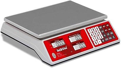 Vinson Bascula Comercial Digital 40kg Multifunciones Bateria Recargable 4 Memorias Caja Registradora