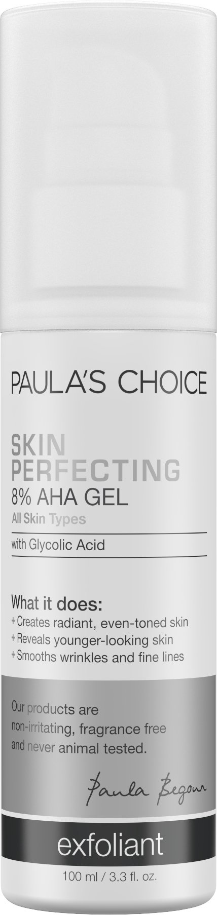 Paula's Choice-SKIN PERFECTING 8% AHA Gel Exfoliant with Glycolic Acid Chamomile & Green Tea-Facial Exfoliant for Normal to Dry Skin Fine Lines-1-3.3 oz Pump