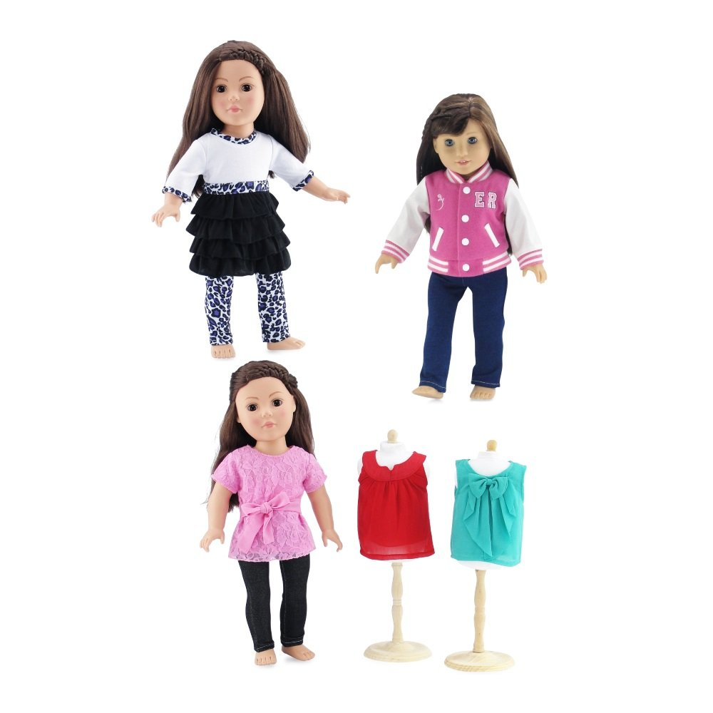 734fddf24ae1 Made to fit 18 Inch dolls such as American Girl, Madame Alexander, Our  Generation, Gotz, etc. Gift-Boxed! Packaged in classy pink gift box with  Emily Rose ...