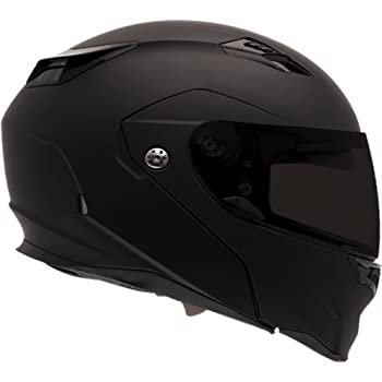 Bell Revolver Evo Modular Motorcycle Helmet (Solid Matte Black, Large)