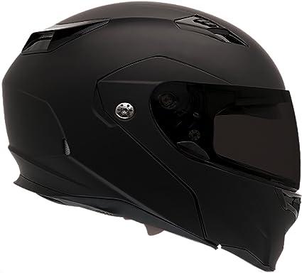 Bell Motorcycle Helmet >> Bell Revolver Evo Modular Motorcycle Helmet Solid Matte Black Medium