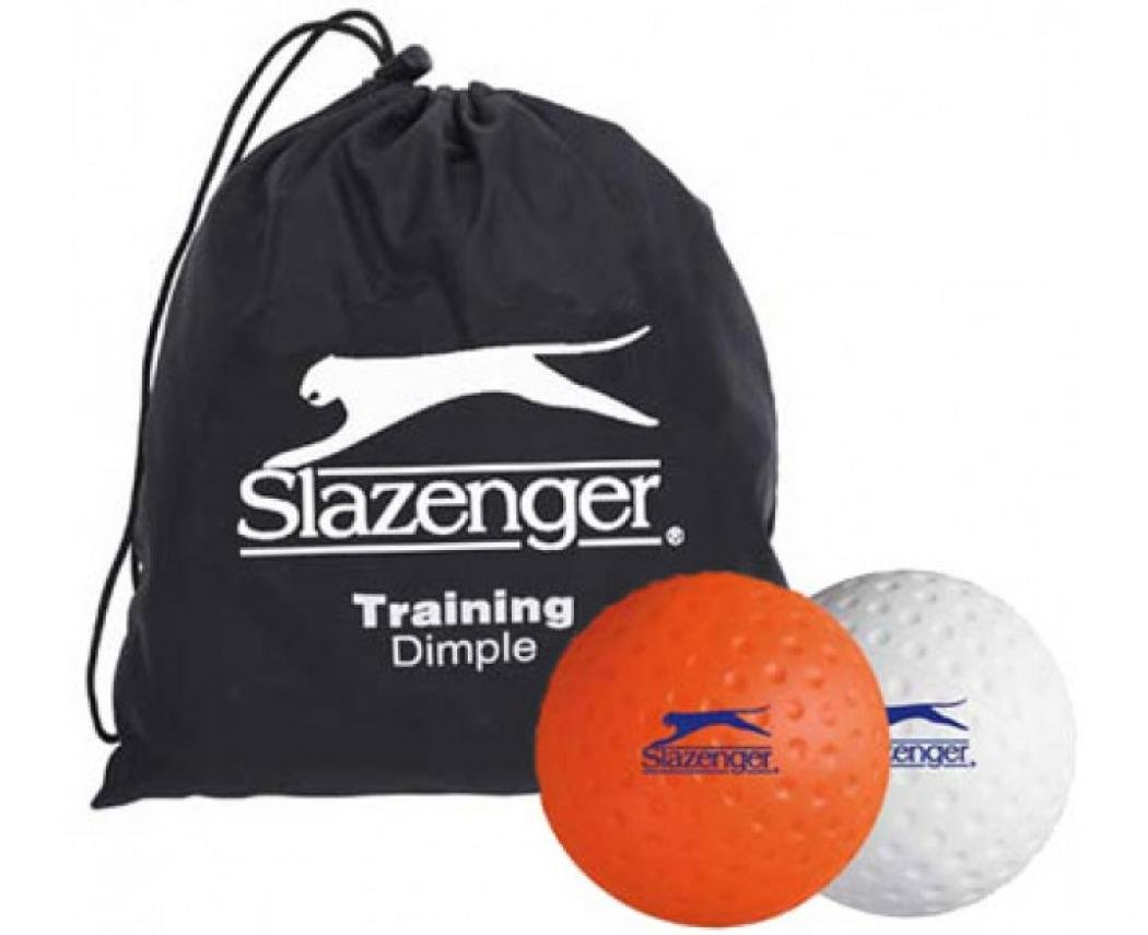 SLAZENGER Training Dimple Hockey Balls with Bag by Slazenger