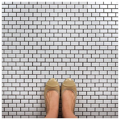 SomerTile FKOVBS11 Marion Subway Porcelain Mosaic Floor and Wall Tile, 11.875'' x 12'', Glossy White by SOMERTILE (Image #10)