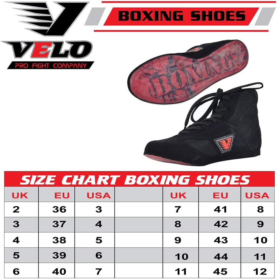 Noires VELO Chaussures Professionnelles Chaussures de Boxe en Cuir entra/înement en Maille l/ég/ères Chaussures de Sport