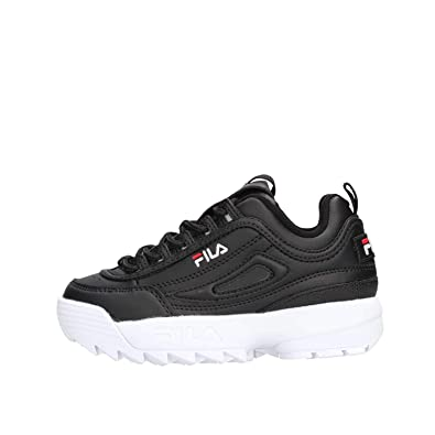 Fila Disruptor Kids Sneaker Baby Shoes in Black Leather ...