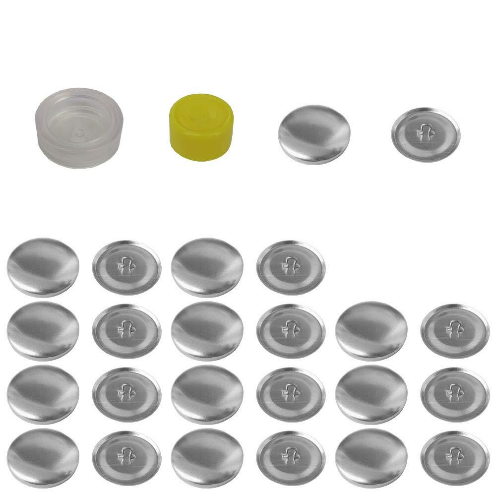 Mehrondo 12 St/ück /Überziehbare Kn/öpfe 22mm Durchmesser mit Druckverschluss