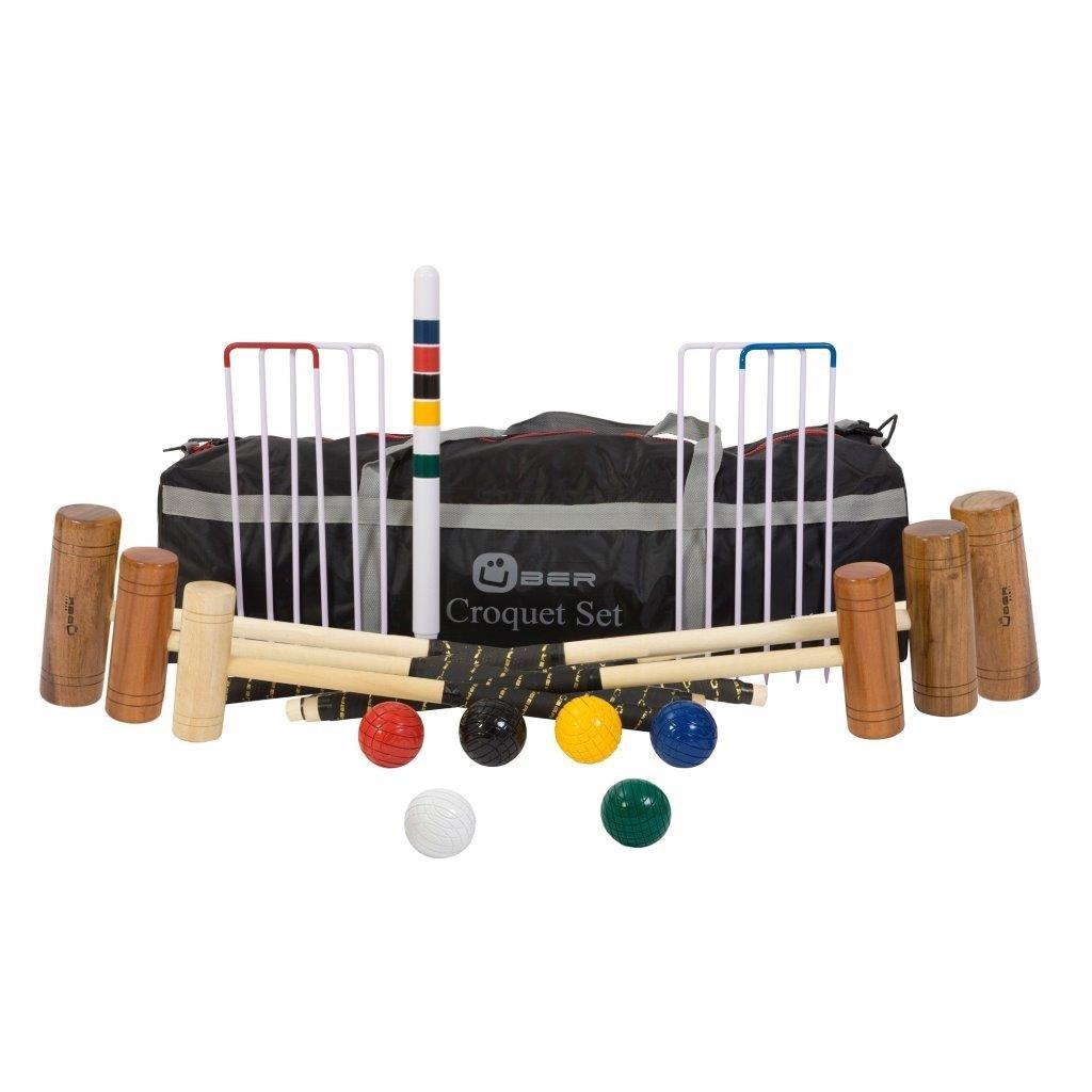 Hochwertiges komplettes Family Croquet / Krocket Set für Einsteiger (6 Spieler) Ubergames Europe UG101-6